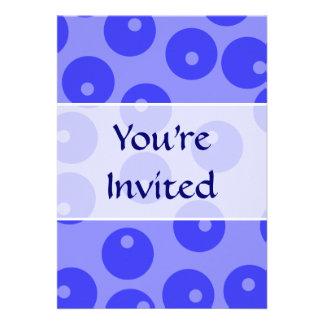Retro blue pattern Circles design Personalized Announcement