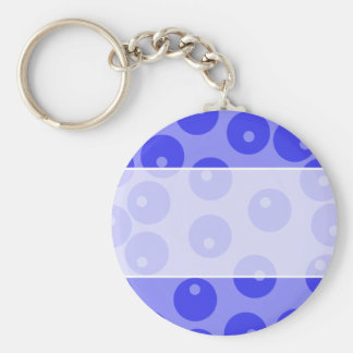 Retro blue pattern. Circles design. Keychains