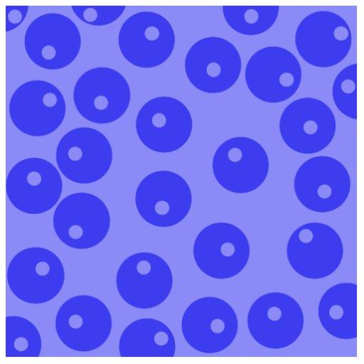 Retro blue pattern. Circles design. Cut Outs