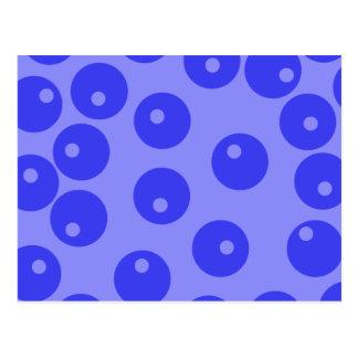 Retro blue pattern. Circles design. Postcard