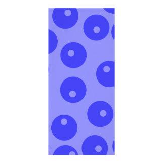 Retro blue pattern. Circles design. Custom Rack Cards