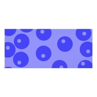 Retro blue pattern Circles design Full Color Rack Card