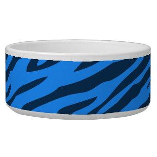 Retro Blue Pattern Zebra Abstract Art