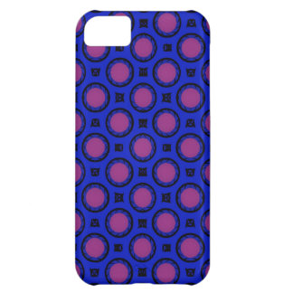 retro blue pink circle pattern cover for iPhone 5C