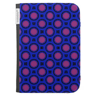 retro blue pink circle pattern cases for the kindle