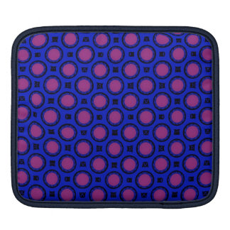 retro blue pink circle pattern sleeve for iPads