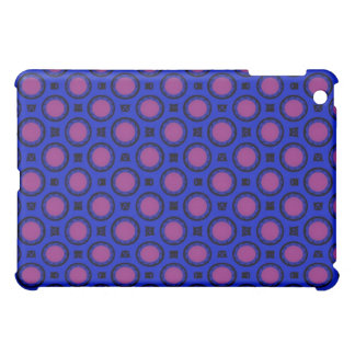 retro blue pink circle pern iPad mini cases