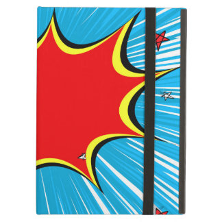 Retro Blue & Red Stars Comic Explosion iPad Air Covers