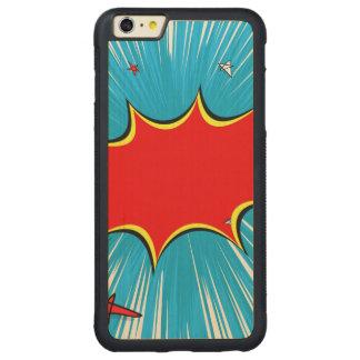 Retro Blue & Red Stars Comic Explosion iPhone 6 Plus Case
