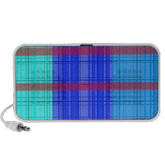 Retro blue red transparent plaid portable speakers