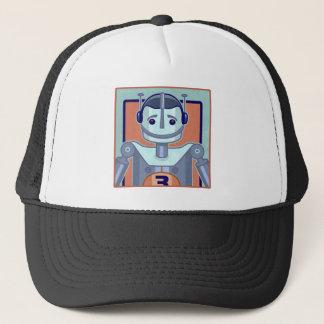 Retro Blue Robot Trucker Hat