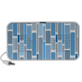 retro blue travel speaker