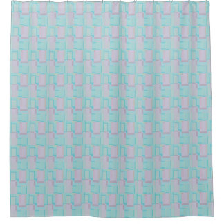 Retro Blue Too Shower Curtain