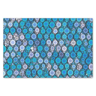 Retro Blue Turquoise Pattern Tissue Paper