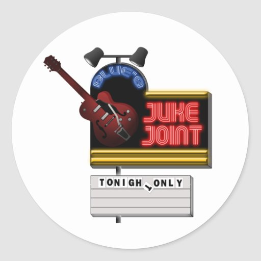Retro Blues Juke Joint Stickers