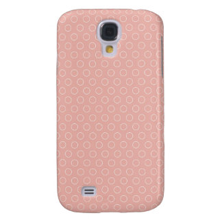 Retro Blush Pink Circles Pattern Galaxy S4 Case