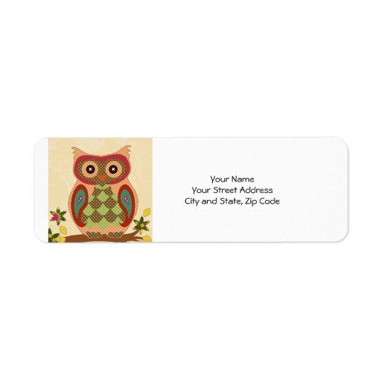 Retro Bohemian Owl