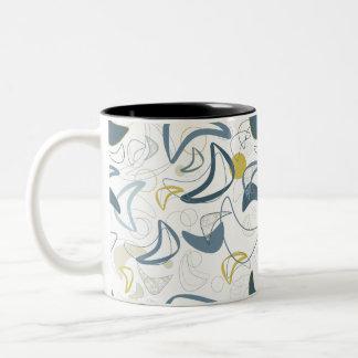 Retro Boom-A-Rang! Two-Tone Coffee Mug