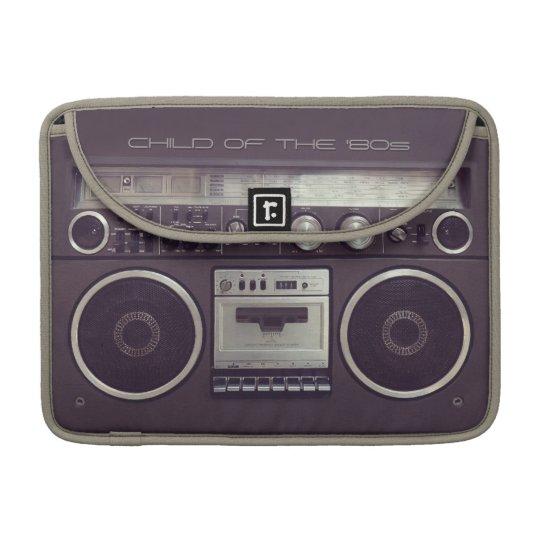 Retro Boombox Cassette Player Funny Macbook sleeve
