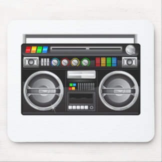 retro boombox ghetto blaster graphic mouse mat