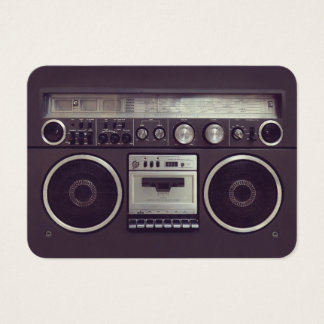 Retro Boombox Ghetto Blaster Music business card