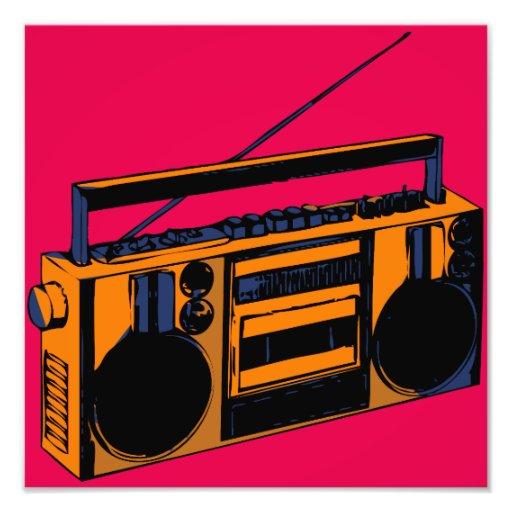 Boombox Pop Art Retro Boombox Photo En...