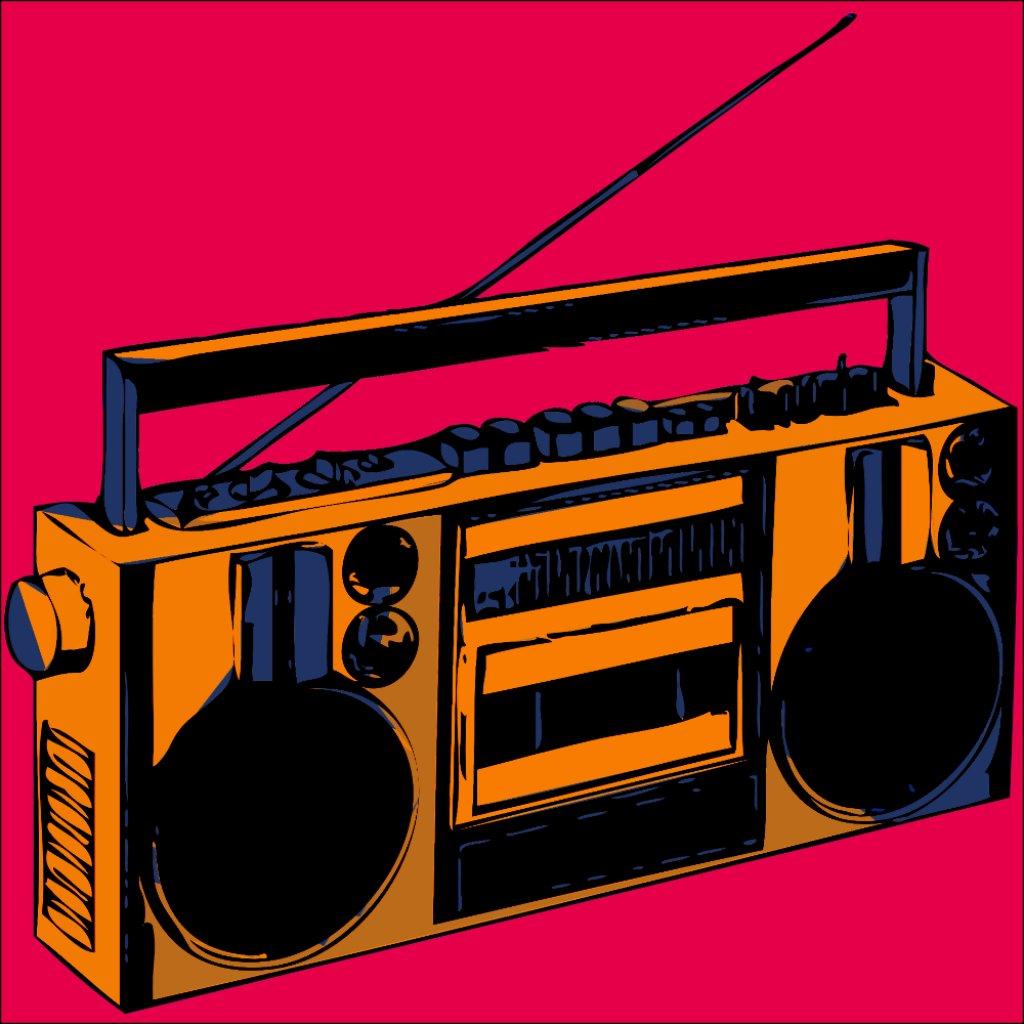 Boombox Pop Art Retro Boombox Photo Enlargment