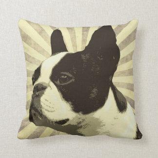 Retro Boston Terrior Pillow