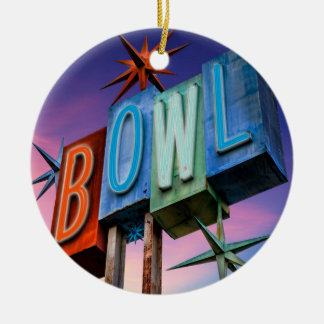 Retro BOWL sign ornament