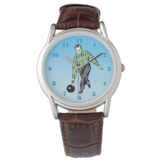 RETRO BOWLER WITH NUMBERS WATCH