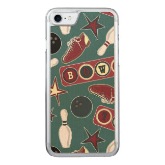 Retro Bowling Pattern Carved iPhone 7 Case