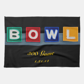 Retro Bowling Tea Towel