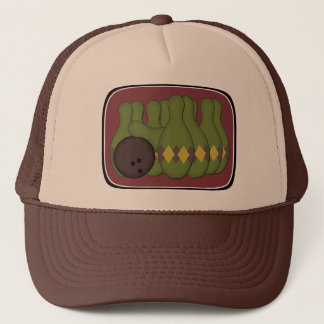 Retro Bowling Trucker Hat