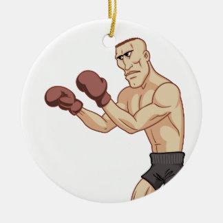 retro boxer round ceramic decoration