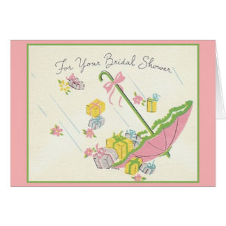Retro Bridal Shower Greeting Card
