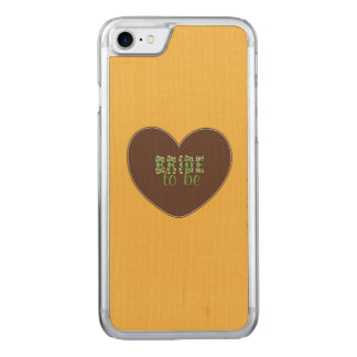 Retro Bride to be Carved iPhone 7 Case