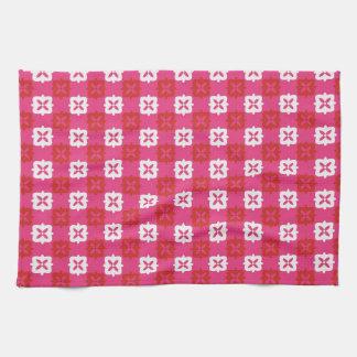Retro bright 1 tea towel