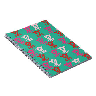Retro bright 4 spiral notebook