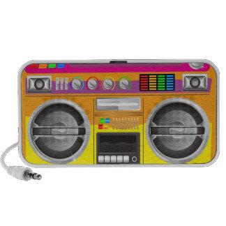 retro bright colors boom box ghetto blaster portable speaker