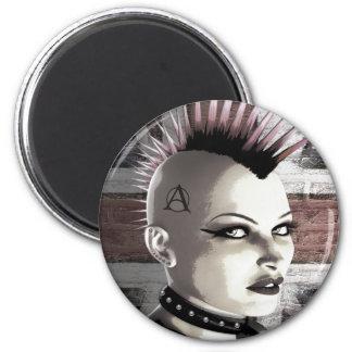 Retro British Punk Fashion Magnets