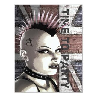 """Retro British Punk Fashion Small Size Invitations 4.25"""" X 5.5"""" Invitation Card"""