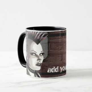 Retro British Punk Personalized Mugs