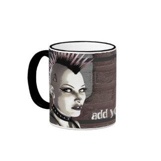 Retro British Punk Personalized Mugs