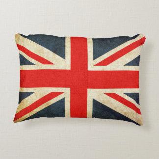 Retro British Union Jack Flag Accent Pillow