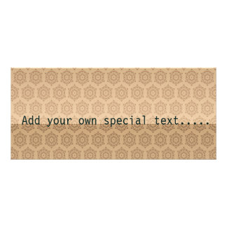 retro,brown,beige,floral,70's, pattern,vintage,tre personalized rack card