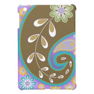 Retro brown paisley motif custom case for the iPad mini