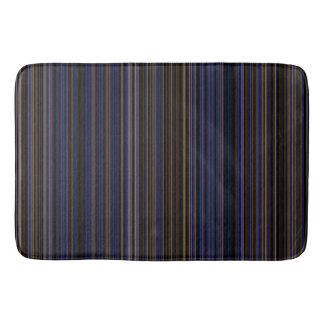 Retro brown purple blue stripe bathmat