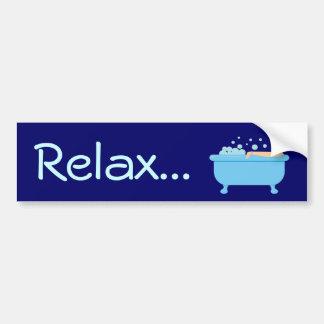 Retro Bubble Bath Girl Bumper Sticker