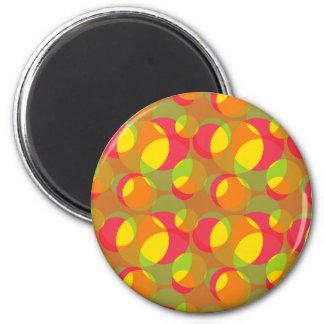 Retro Bubbles 6 Cm Round Magnet