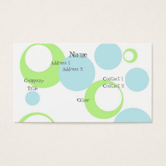 Retro Bubbles Business Card